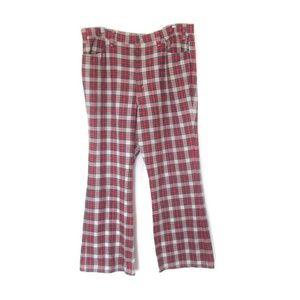 1970s vintage plaid levi's pants size xl